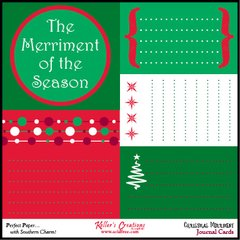 Journal Cards - Christmas Merriment
