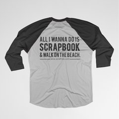 Scrapbook & Walk on the Beach T-shirt
