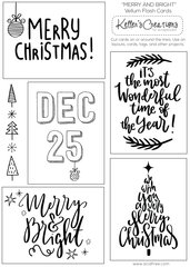 Vellum Flash Cards-Merry Christmas