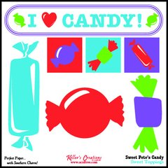 Toppings Card/Candy - Sweet Pete's Candy