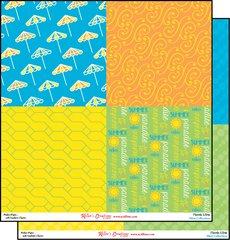 12x12 Print Paper - Florida Citrus
