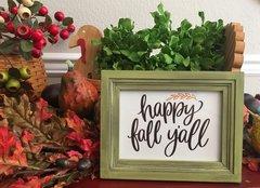Happy Fall Word Art