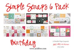 Simple Scraps 6 Pack-Happy Birthday