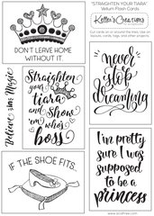 Vellum Flash Cards-Straighten Your Tiara