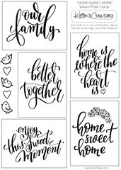 Vellum Flash Cards-Home Sweet Home