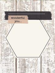 Wonderful You - French Garden Flash Card