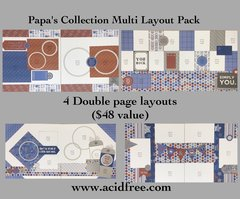 *Multi Layout Pack-Papa's Collection