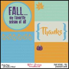 Bulk Pack-Fall Journal Cards