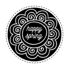 "Happy Spring - 2"" Stamp"