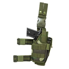 Drop Leg Tactical Holster - Woodland Camo