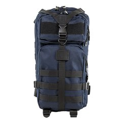 Small Deluxe Backpack - Blue w/Black Trim