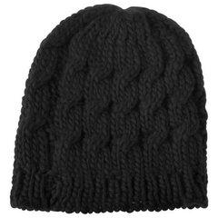 Women's Braided Knit Cap-Black