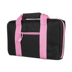 Basic 2 Pistol Case - Black w/Pink Trim