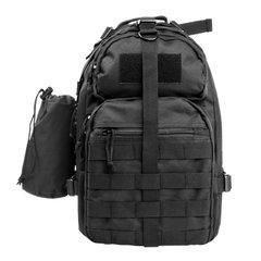 Sling-Style Backpack - Black