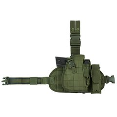 Drop Leg MOLLE Panel/Holster/Mag Pouch - Green