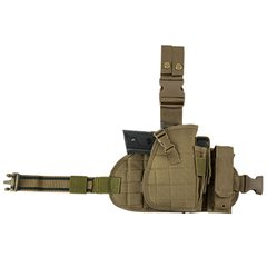Drop Leg MOLLE Panel/Holster/Mag Pouch - Tan