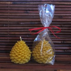 Beeswax Pine Cone Candle