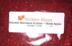 "Solvent Resistant Glitter! - Candy Apple (1/128"")"