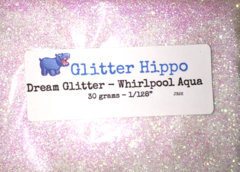 "Dream Glitter! - Whirlpool Aqua (1/128"")"