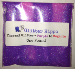 "Thermal Glitter! - Purple to Magenta (1/128"")  One Pound"