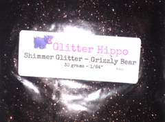 "Shimmer Glitter! - Grizzly Bear (1/64"")"