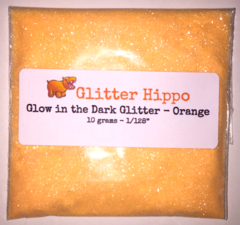 "Glow in the Dark Glitter! - Orange (1/128"")"