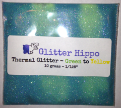 "Thermal Glitter! - Green to Yellow (1/128"")"