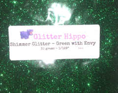 "Shimmer Glitter! - Green with Envy (1/128"")"