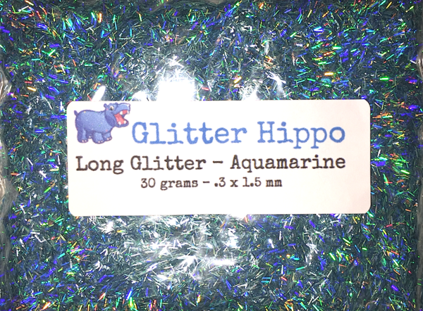 Long Glitter! - Aquamarine  (.3 x 1.5 mm)