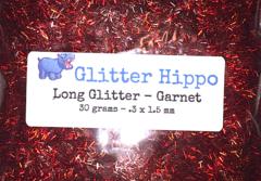 Long Glitter! - Garnet  (.3 x 1.5 mm)
