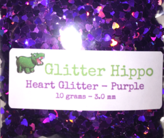 Heart Glitter! - Purple (3 mm)