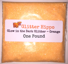"Glow in the Dark Glitter! - Orange (1/128"") One Pound"