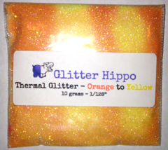 "Thermal Glitter! - Orange to Yellow (1/128"")"