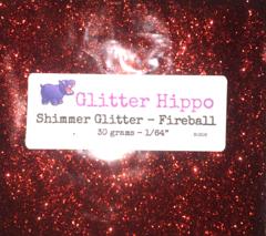 "Shimmer Glitter! - Fireball (1/64"")"