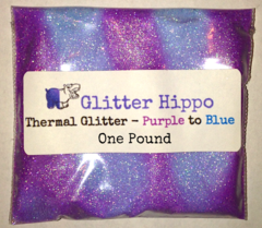 "Thermal Glitter! - Purple to Blue (1/128"") One Pound"
