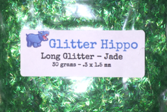 Long Glitter! - Jade  (.3 x 1.5 mm)