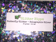 Butterfly Glitter! - Holographic Silver (3.0 mm)
