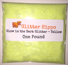 "Glow in the Dark Glitter! - Yellow (1/128"") One Pound"
