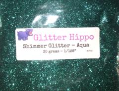 "Shimmer Glitter! - Aqua (1/128"")"