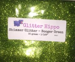 """Shimmer Glitter! - Booger Green (1/128"""")"""