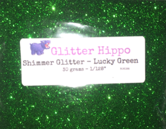 "Shimmer Glitter! - Lucky Green (1/128"")"
