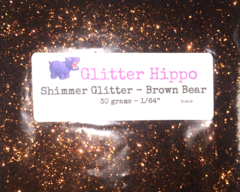 "Shimmer Glitter! - Brown Bear (1/64"")"
