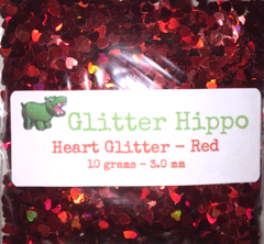 Heart Glitter! - Red (3 mm)