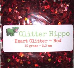 Heart Glitter! - Red (3 mm)