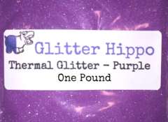 "Thermal Glitter! - Purple to White (1/128"")  One Pound"