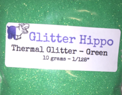 "Thermal Glitter! - Green to White (1/128"")"