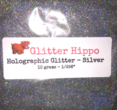 "Holographic Glitter! - Silver (1/256"")"