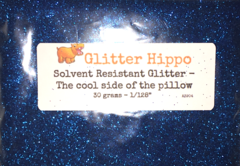 "Solvent Resistant Glitter! - The cool side of the pillow (1/128"")"