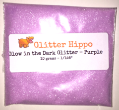 "Glow in the Dark Glitter! - Purple (1/128"")"