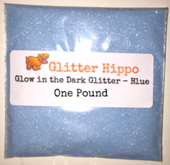 "Glow in the Dark Glitter! - Blue (1/128"") One Pound"